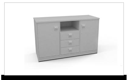 Credenza Con Gavetas : Credenza de pedestales y puertas ofiydis muebles para oficina